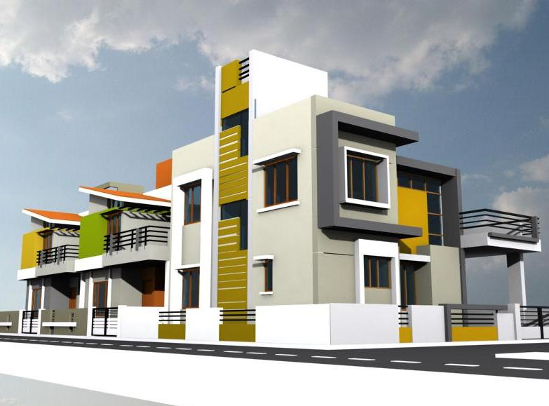 House Front Elevation Designs also Residential House Elevation Designs ...